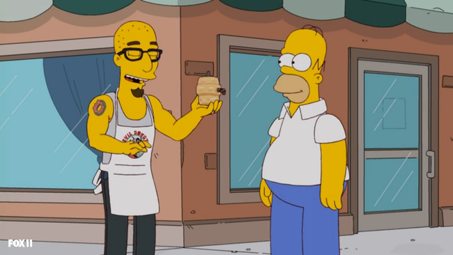 Simpsons beer keg donut