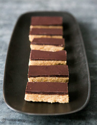 Chocolate peanut butter bars passover vertical