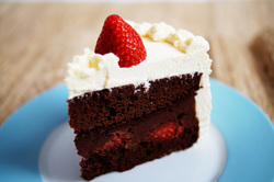 Strawberry chocolate kirsch cake