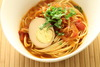 Fragrant tomato garlic stew with noodles