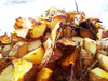 Roasted beets and potatoes