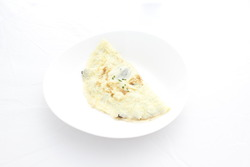 Mushroom omelette with truffle oil and chives