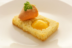 Egg in brioche toast