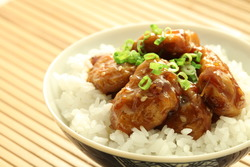 Vegetarian chinese mandarin chicken